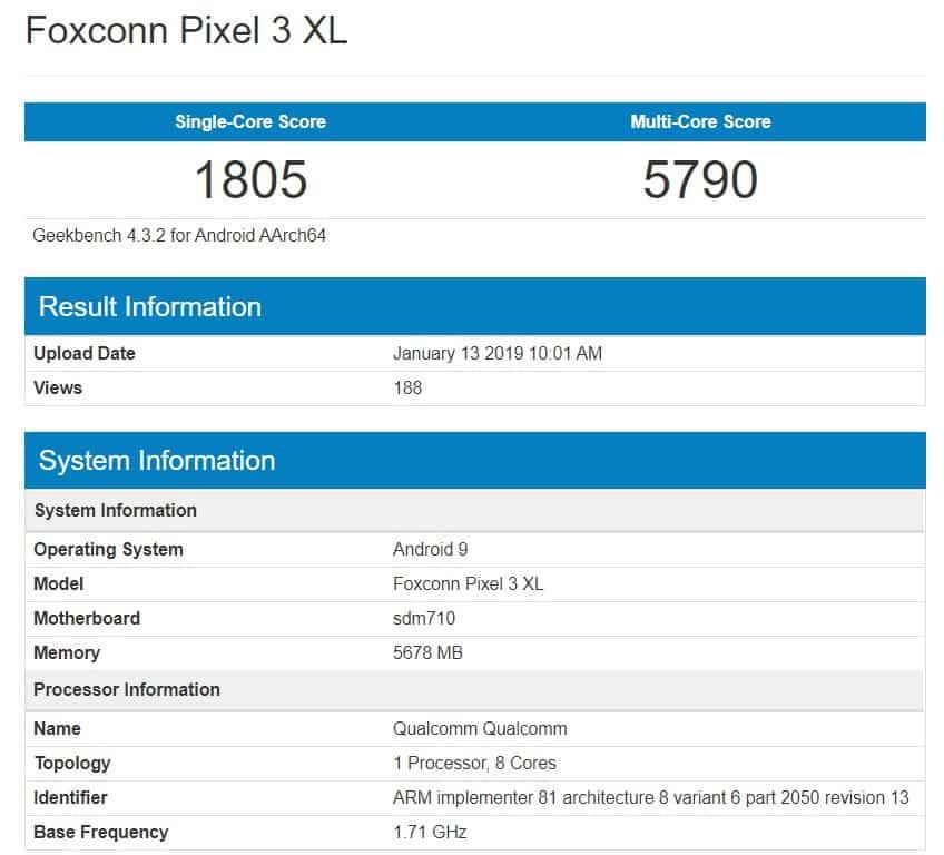 Pixel 3 XL Lite