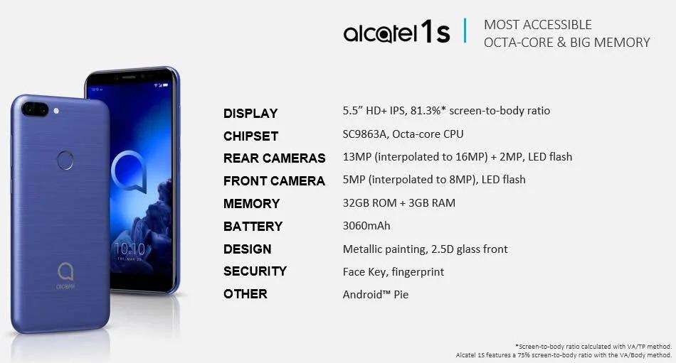 smartphones da Alcatel