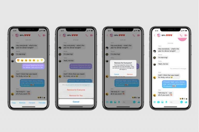 Facebook Messenger: Já é possível apagar mensagens enviadas!