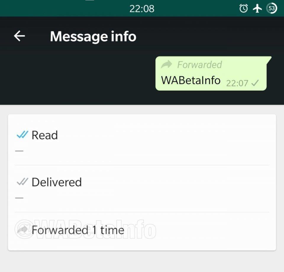 novidade nas mensagens