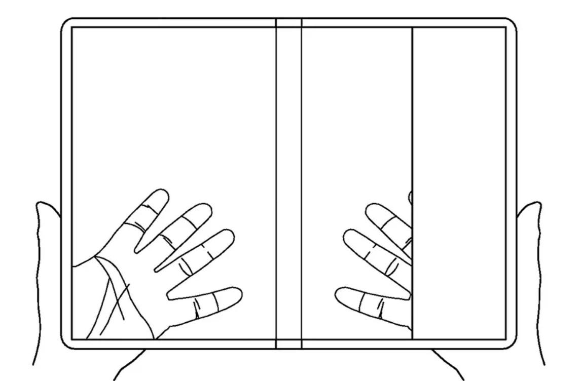 smartphone dobrável transparente