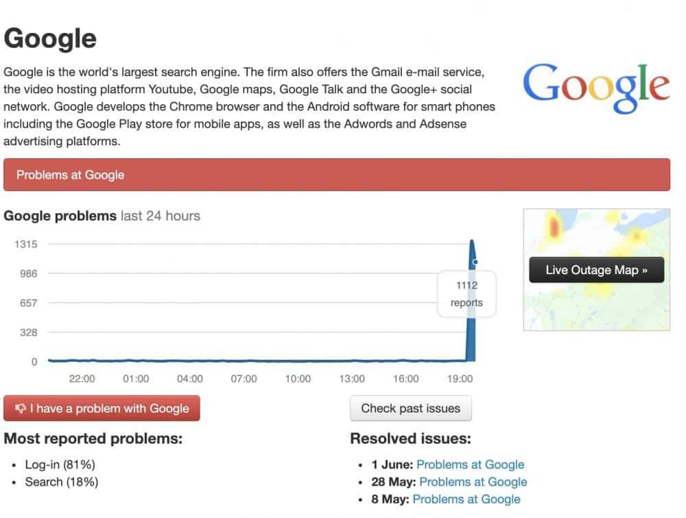serviços da Google