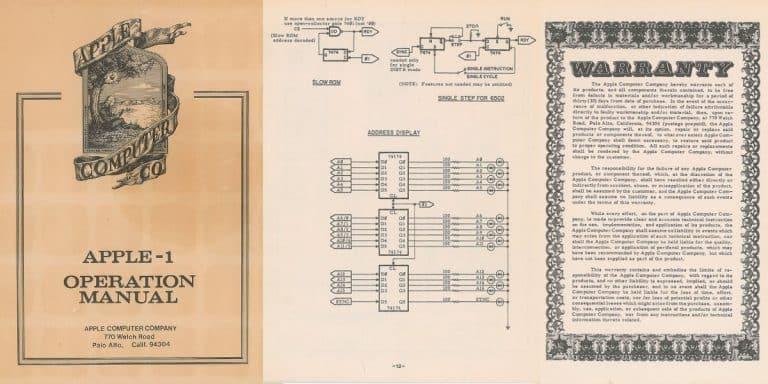Manual de instruções do Apple 1 pode valer mais de 10 mil dólares