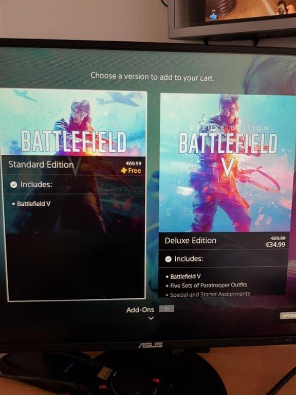 PS Plus, Battlefield V