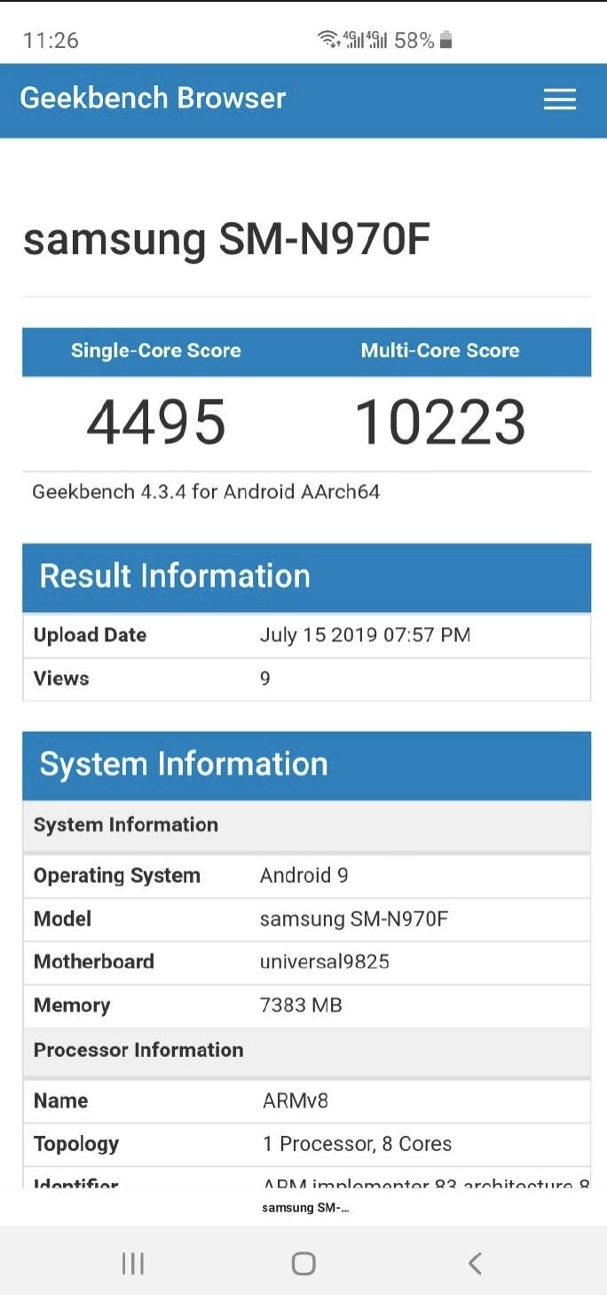 Samsung Galaxy Note 10 -
