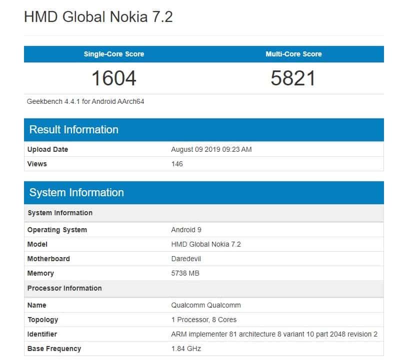 Nokia 7.2 chega