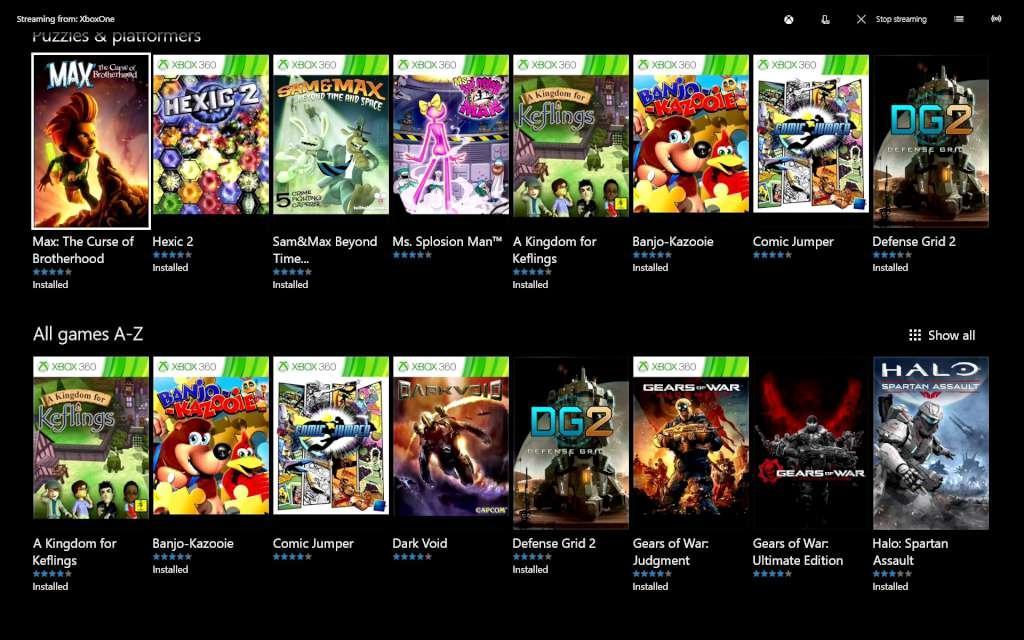 Xbox Vs
