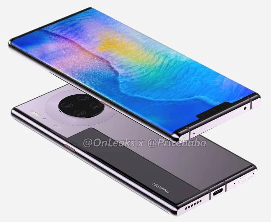 Caixa do Huawei Mate 30