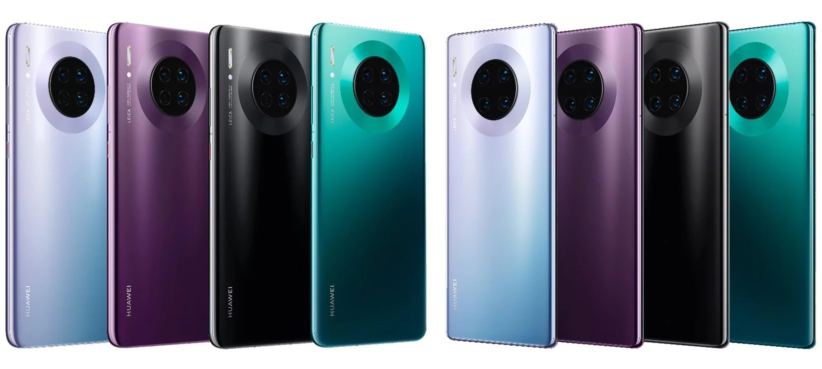 cores do Huawei Mate 30