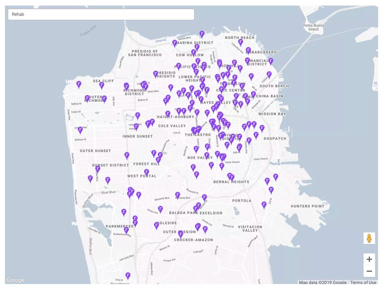 rehab google maps