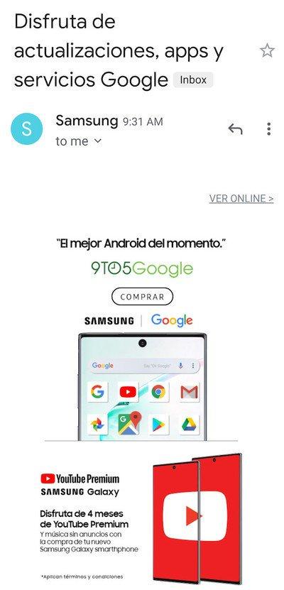 a Samsung tem