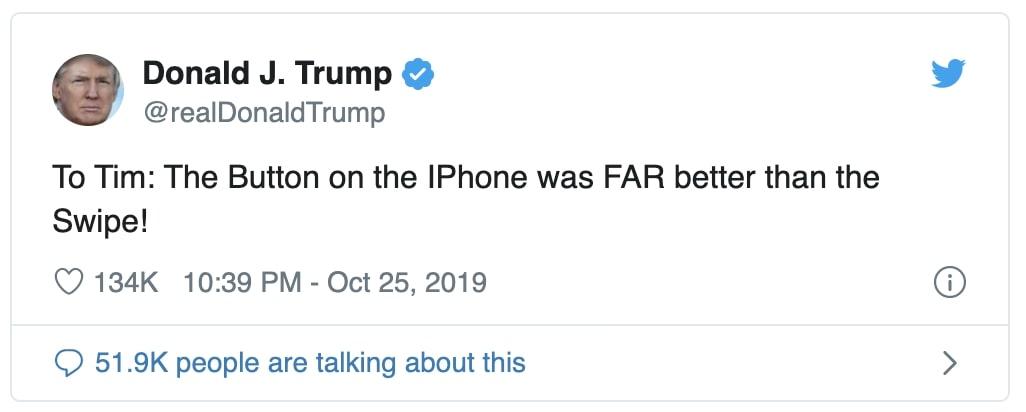 Trump não está