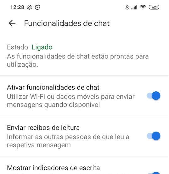 aplicação de mensagens do