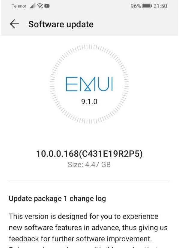 EMUI 10 para