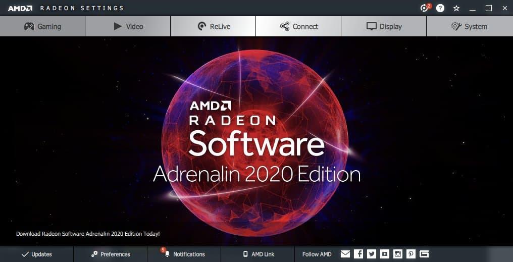 Adrenalin 2020, AMD, Radeon