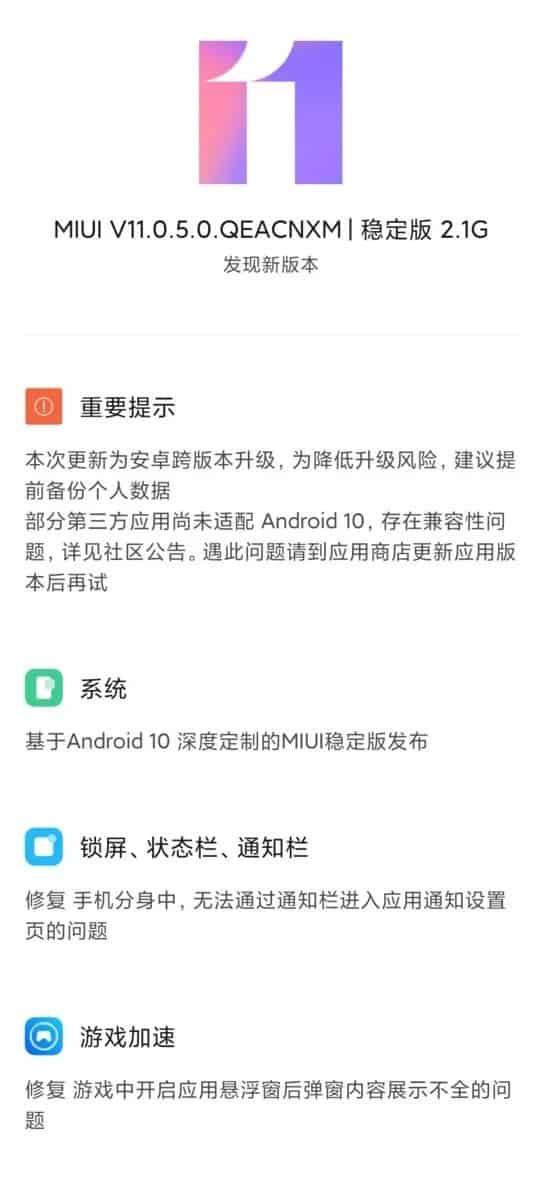 11 para o Xiaomi Mi 8