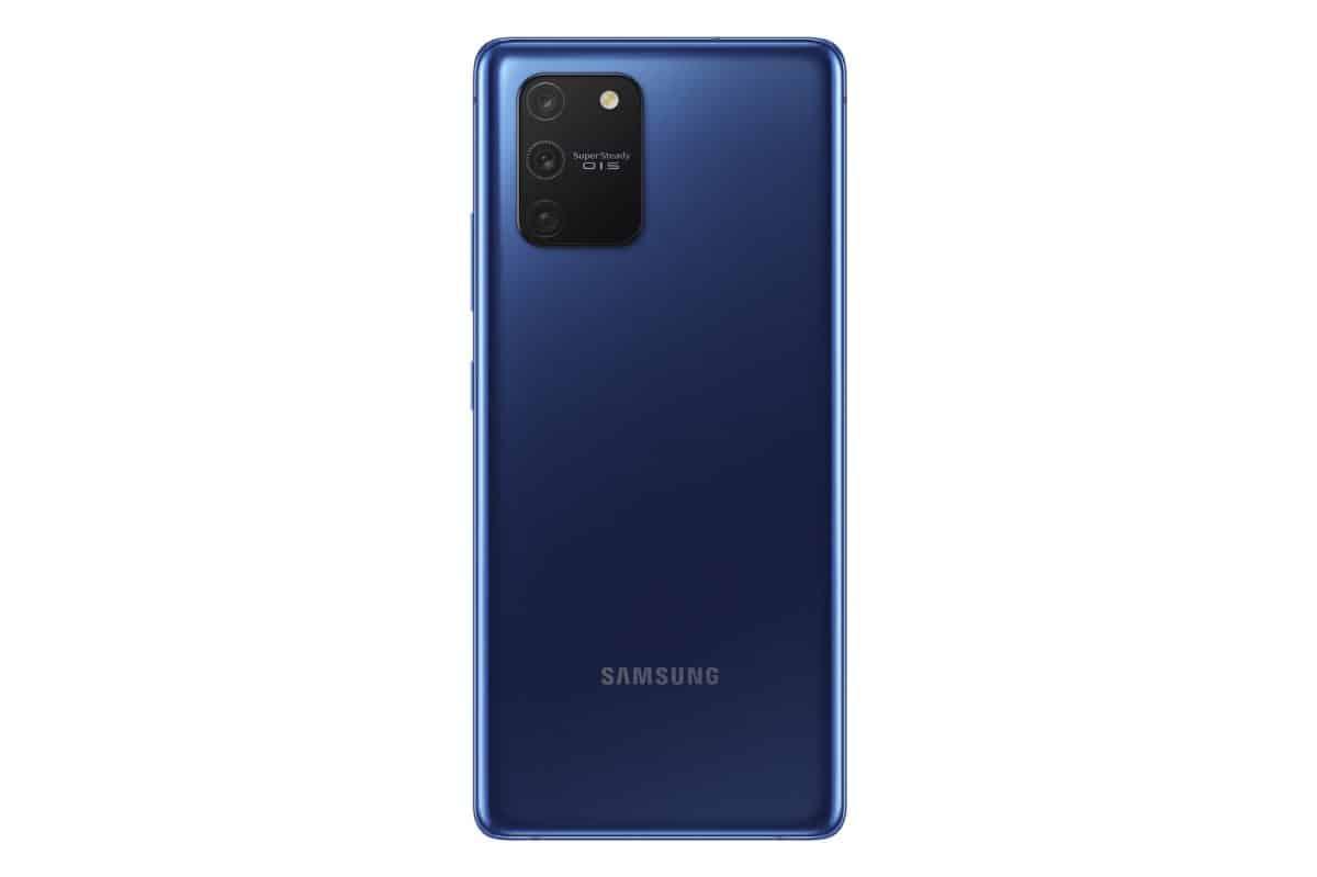 com o Samsung Galaxy S10 Lite