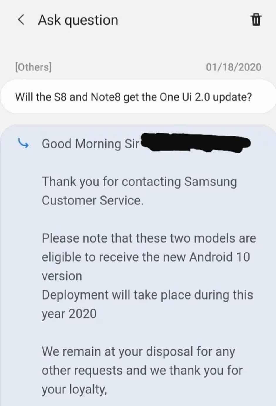 Galaxy S8 e Note 8