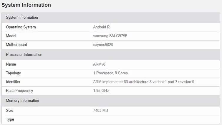 Android 11 no Galaxy S10+
