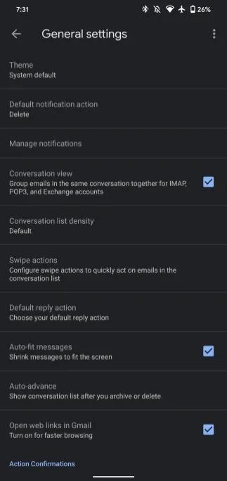 Gmail: o
