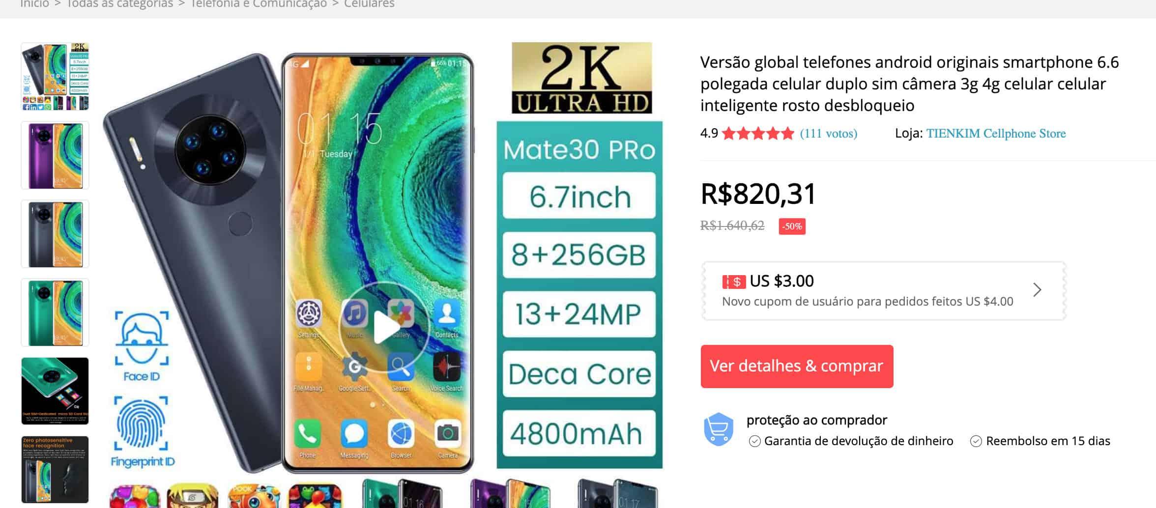 Smartphones falsos
