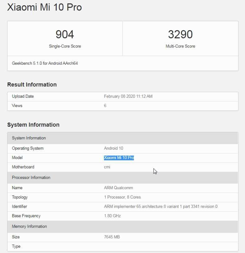 10 Pro com 8GB