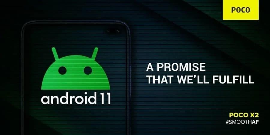 Android 11 para o Poco X2