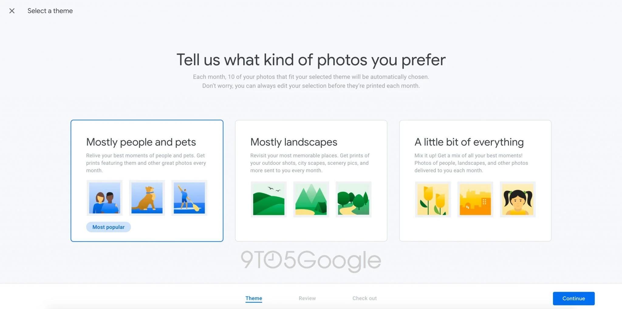 Nova versão do Google Fotos