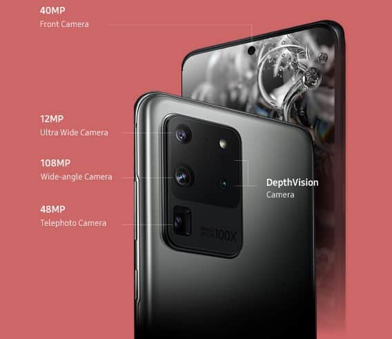 marketing do Galaxy S20