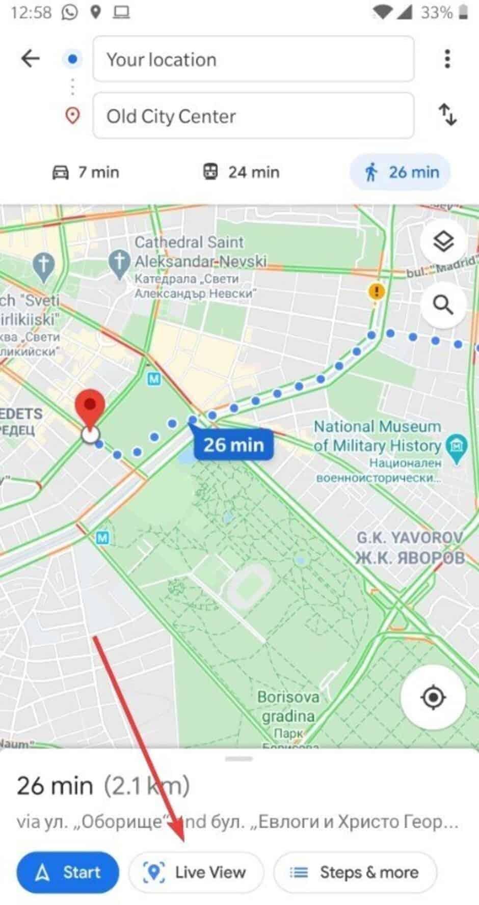 Realidade aumentada no Google Maps