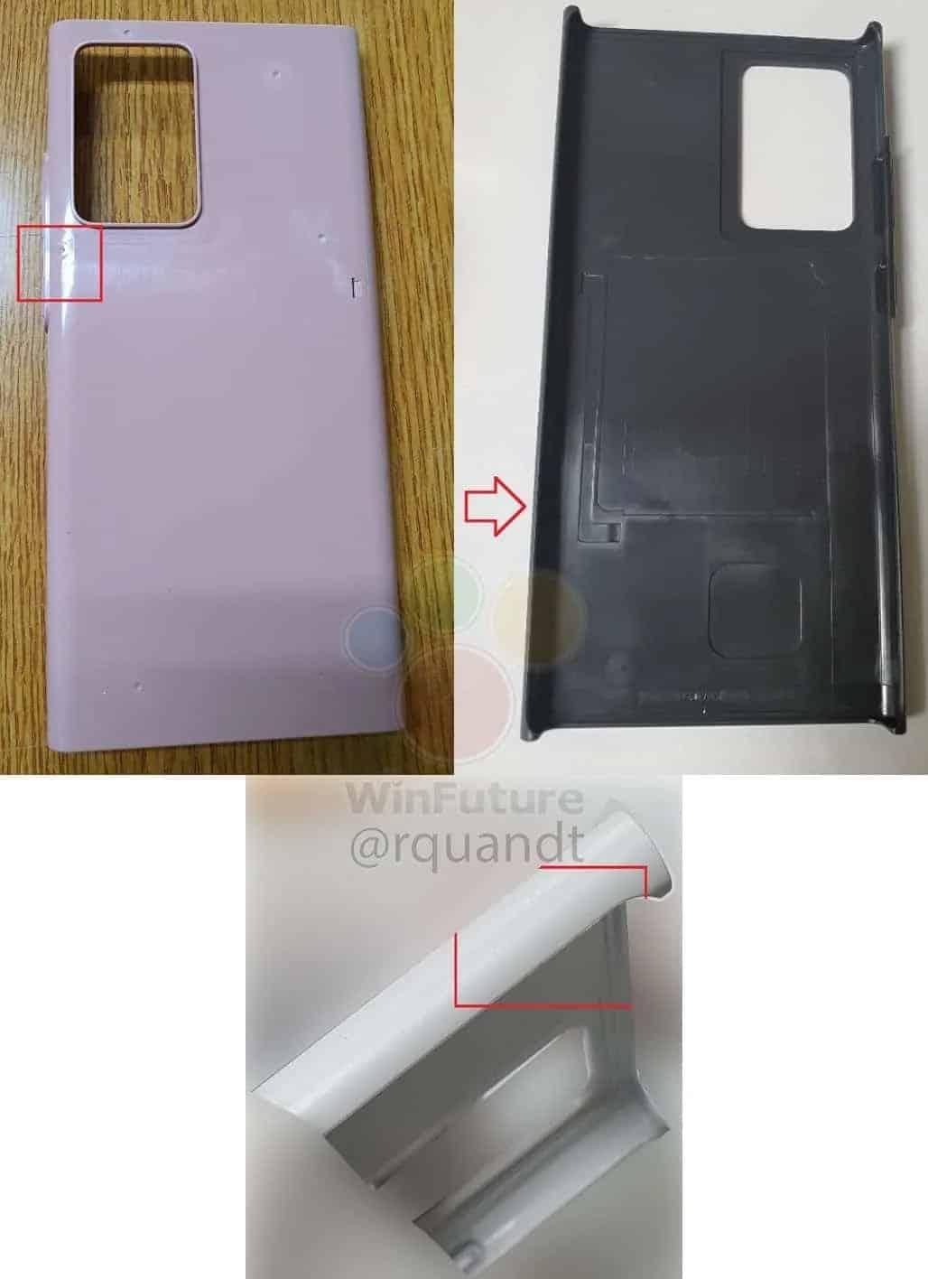 Design do Galaxy Note 20