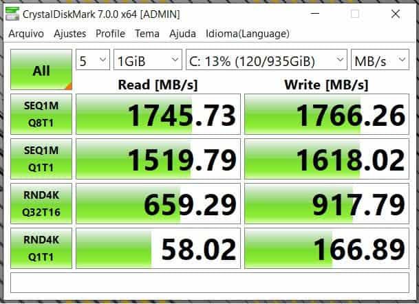 CrystalDiskMark (SSD)