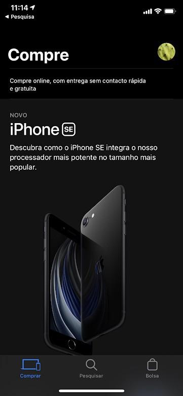 Apple Store atualizada