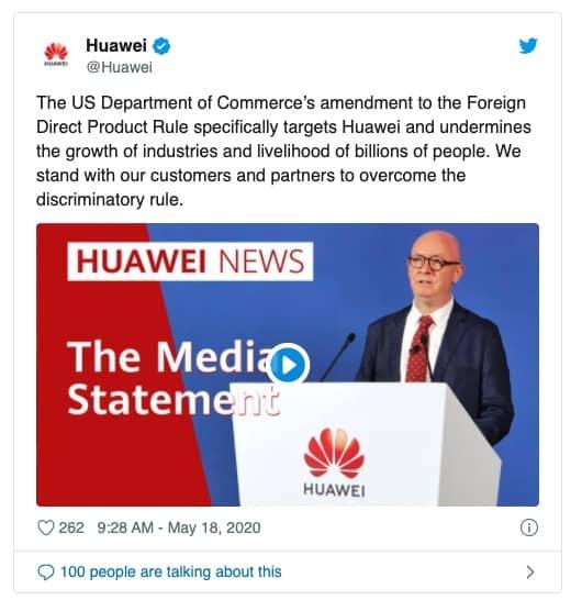 Huawei ataque