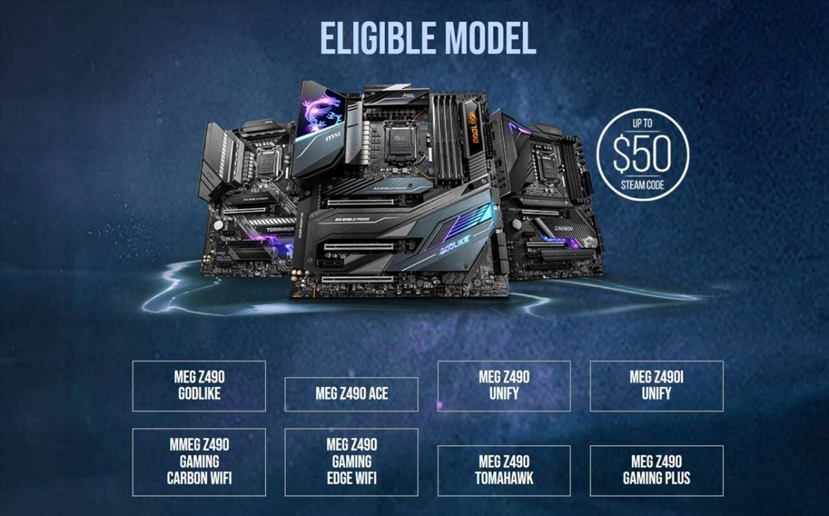 Want to buy an Intel Core 10000 and a Z490 board? MSI helps!