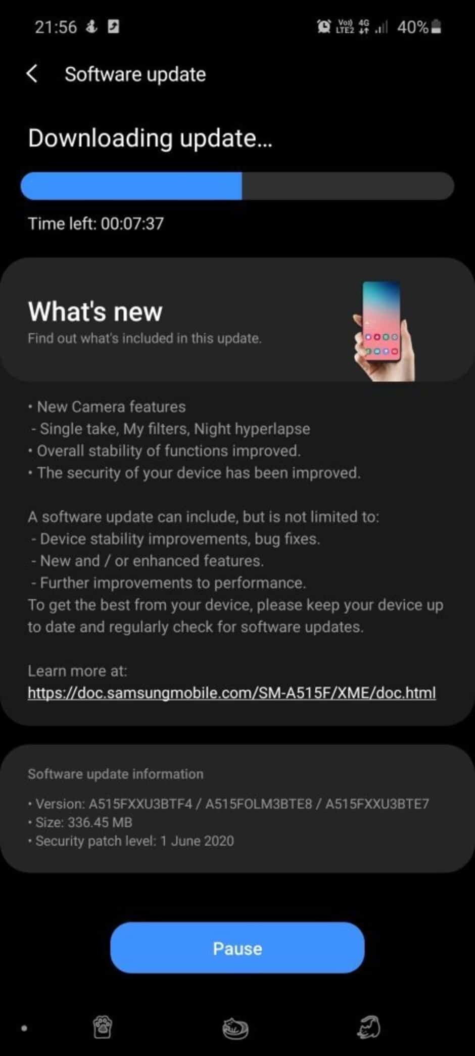 Samsung Galaxy A51 câmara
