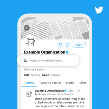 Twitter labels governo
