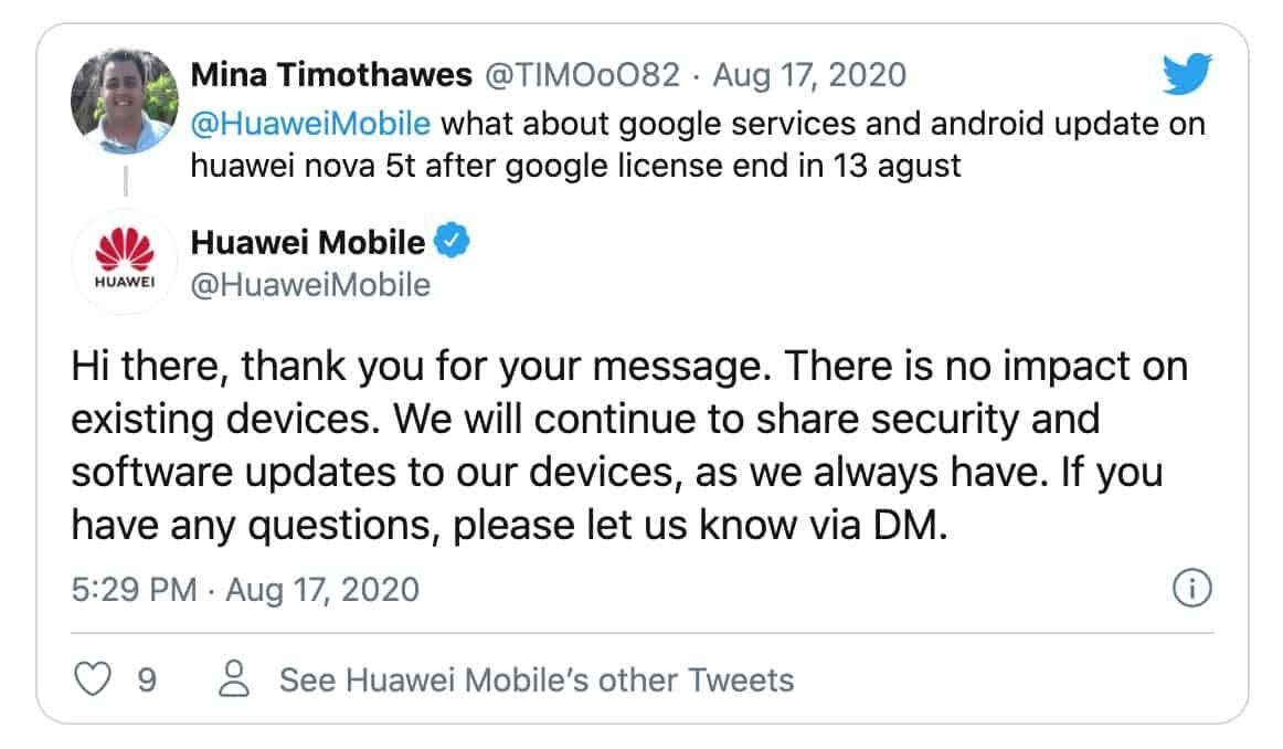 smartphones huawei updates