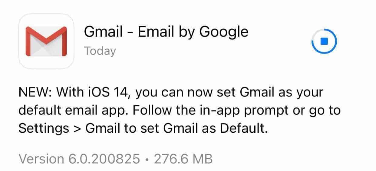 Gmail email padrão iOS