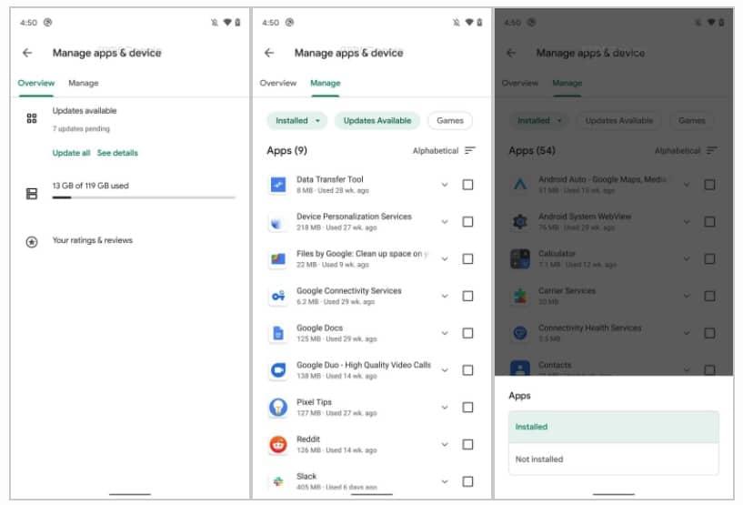 Google Play Store novidade