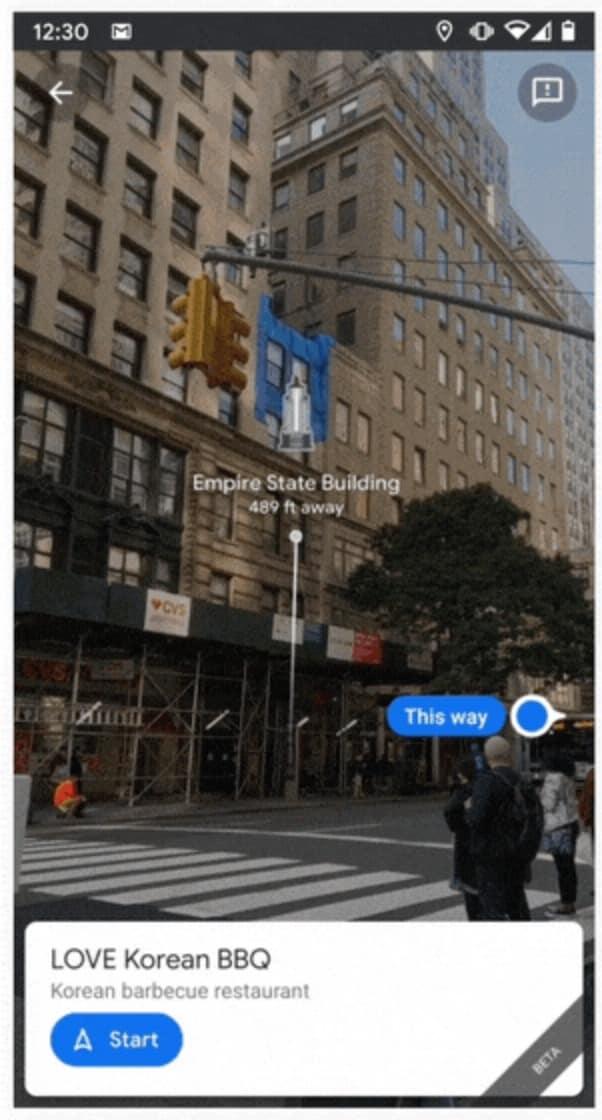 Google Maps Live View