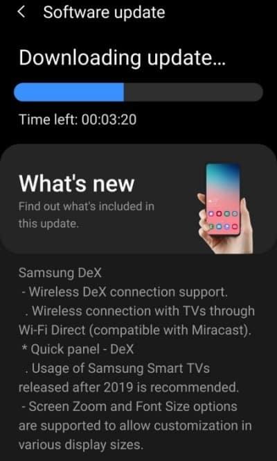 One UI 2.5 S9+