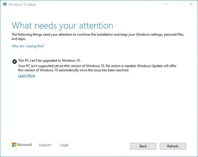 Updates do Windows 10