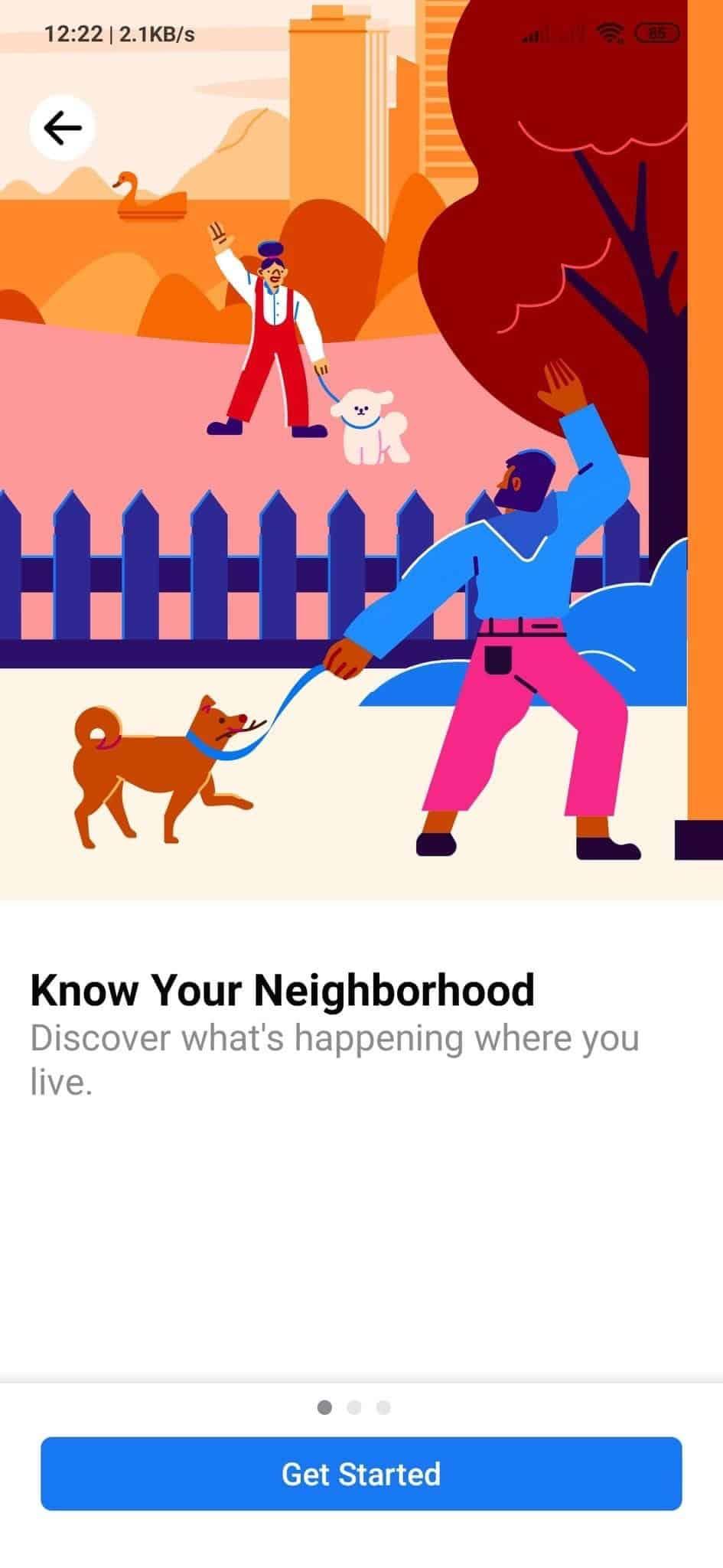 Facebook vizinhos