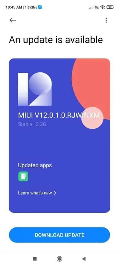 Note 9S MIUI 12