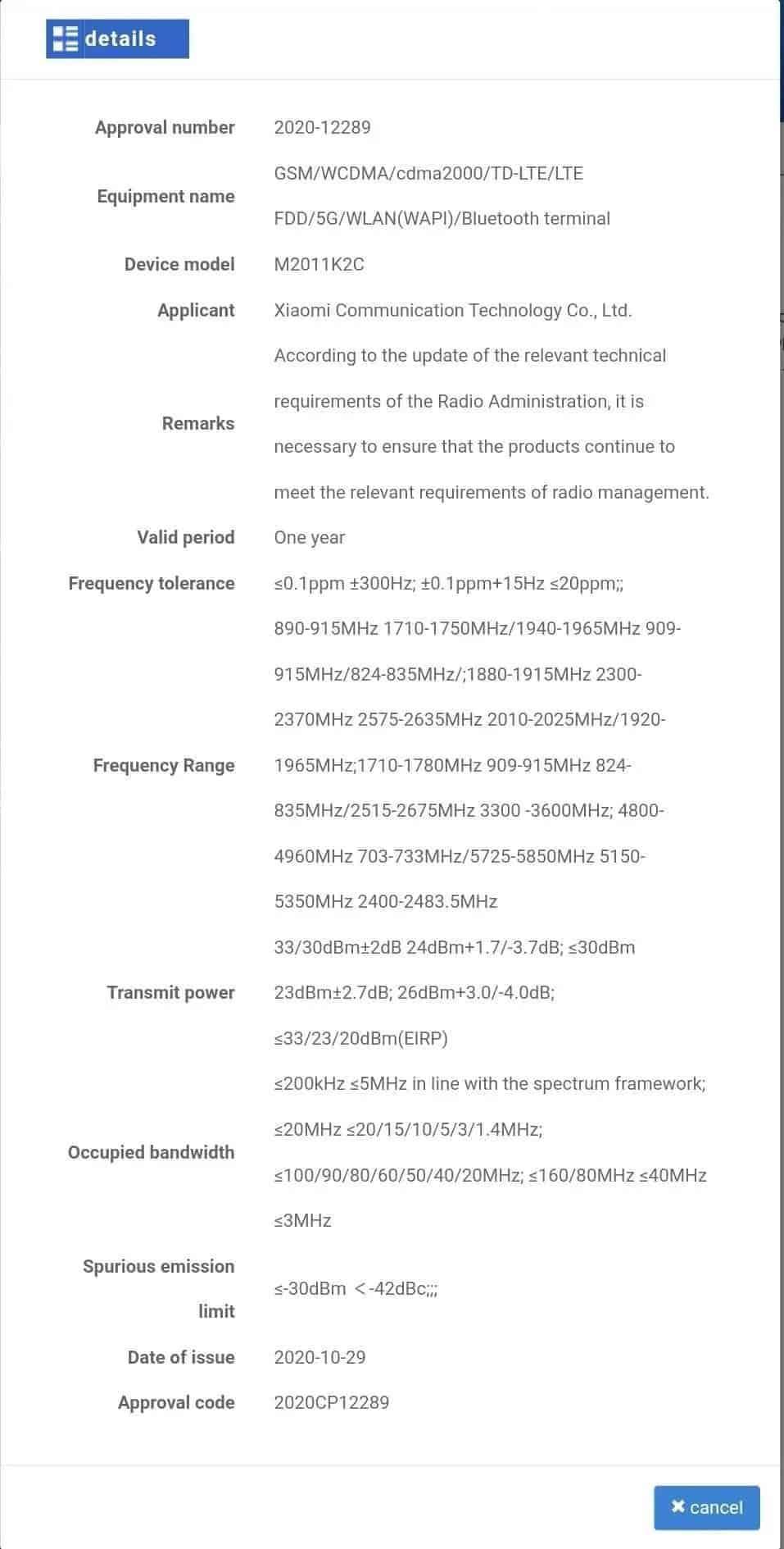 Gama Redmi Note 9