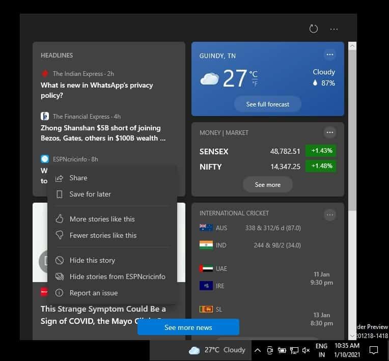 Windows 10 má