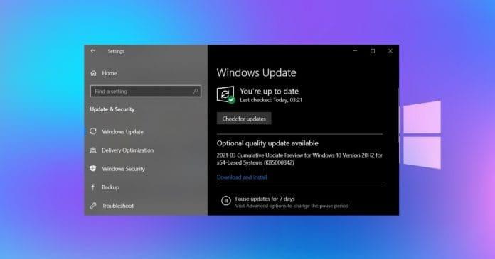 Windows 10 update rápido