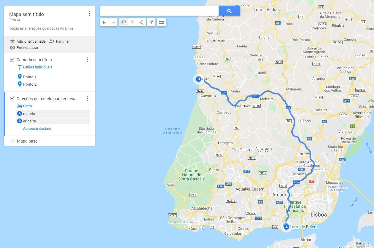 Google Maps desconfinamento