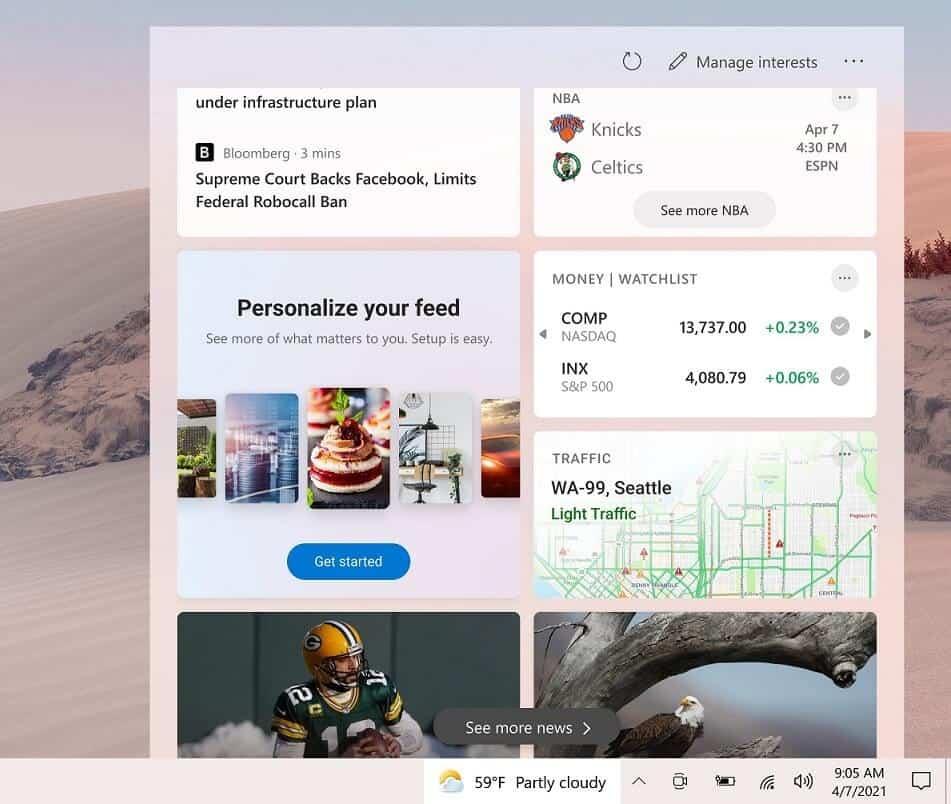 Windows 10 Google